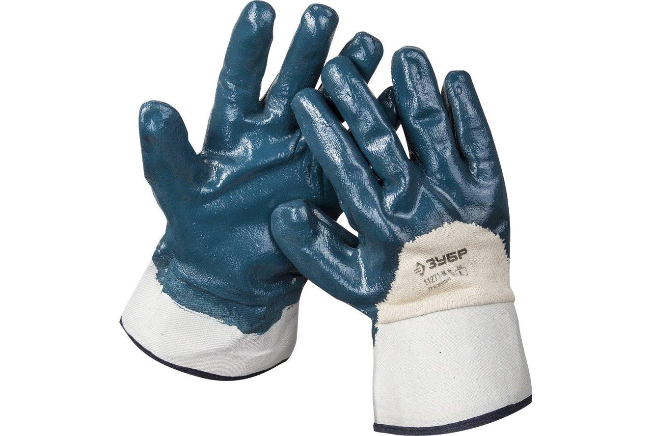 """Перчатки ЗУБР """"МАСТЕР"""" рабочие с нитриловым покрытием ладони, размер M (8) Image"""