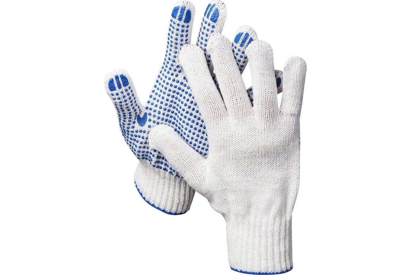 Перчатки трикотажные DEXX, 7 класс, х/б, с защитой от скольжения Image