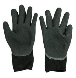 Перчатки черные обрезиненные Image