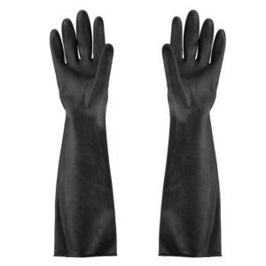 Перчатки черные резиновые хим. Image