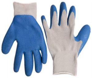 Перчатки ЗУБР рабочие с резиновым рельефным покрытием, размер M Image