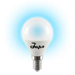 Лампа светодиодная G45 10w Е14 6400К (Заря)-(эконом) Image